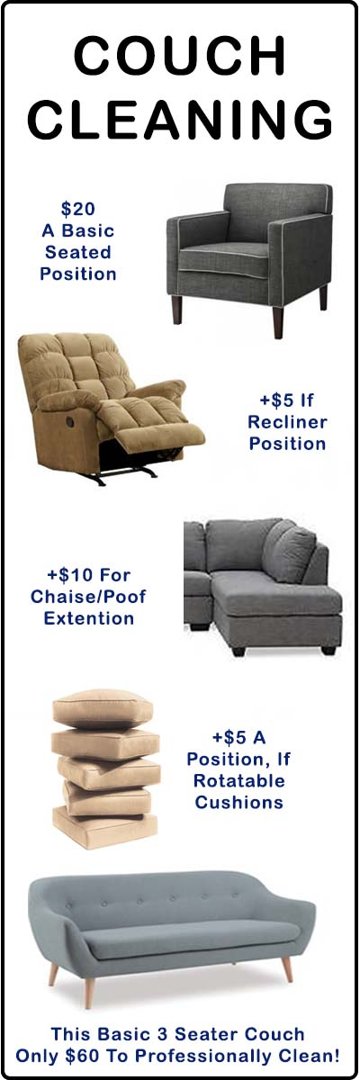 couch cleaning price guide