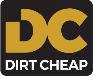 DC dirt cheap logo